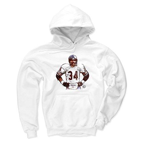 500 LEVEL Walter Payton Chicago Bears Hoodie Sweatshirt (Medium, White) - Walter Payton Sweetness Sketch