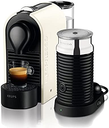 Nespresso U Bundle XN2511 Krups - Cafetera monodosis (19 bares, Máquina Táctil, Depósito modular): Amazon.es: Hogar