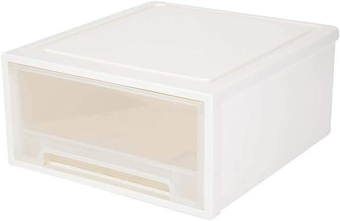 Caja Ropa Interior,Cajones de Plástico Almacenamiento Caja de almacenaje apilables Organizador Cajonera de Sola Capa para Ropa Interior, la Joyería y Cosmética, 42.3 x 45.5 x 20.5cm, Beige: Amazon.es: Hogar