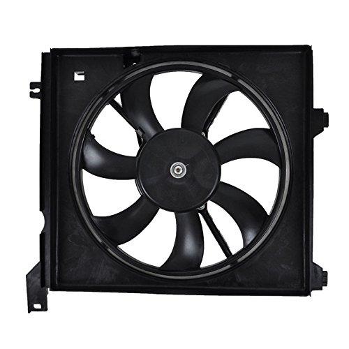 Radiator Cooling Fan Assembly Driver Side Left Hand LH for 04-09 Spectra 2.0L (Radiator Motor Cooling Side Fan)
