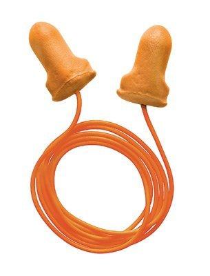 Radnor® Un solo uso en forma de T Naranja Poliuretano y tapones para oídos de