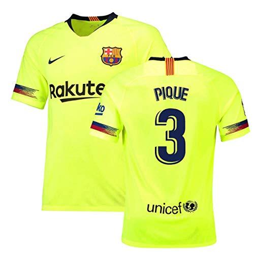(2018-19 Barcelona Away Football Soccer T-Shirt Jersey (Gerard Pique 3) - Kids)