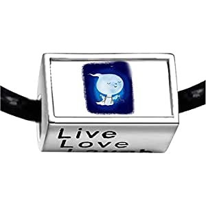 Chicforest Silver Plated cute little Halloween ghost Photo Live Love Laugh Charm Beads Fits Pandora Bracelets