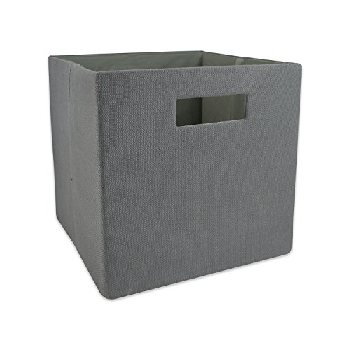 DII Hard Sided Collapsible Fabric Storage Container for Nursery, Offices, Home Organization, (11x11x11) – Solid Gray