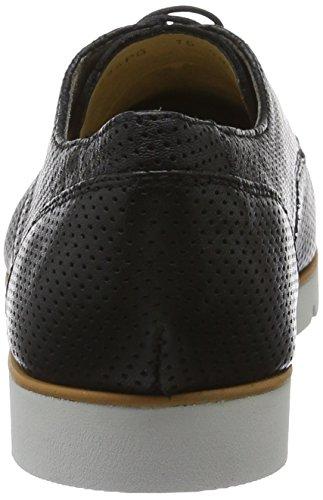 Zapatos Kookean D Blackc9999 G Negro Geox de Cordones Derby Mujer para ct1WcHa7n