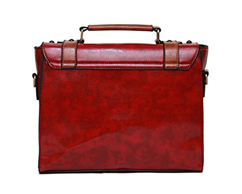 Whoinshop, Borsa a secchiello donna Red