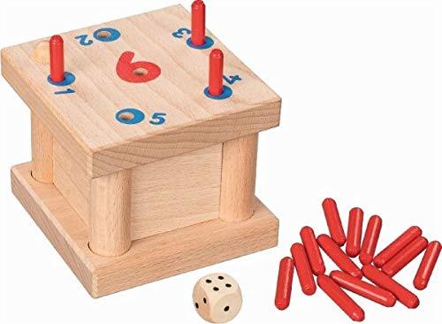 Goki 56799 W/ürfelspiel Die verflixte 6 Holz