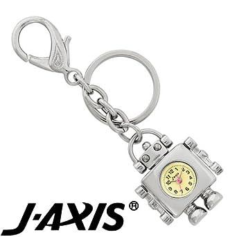 1592a33fea16 J-AXIS ロボット キーチェーン ウォッチ 【キーホルダー チャーム 時計】 シルバー AP1333-S