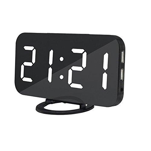 Jコートン 目覚まし時計 デジタル時計 大画面 アラーム機能 スマホ充電 3段階調光 省エネ デジタル表示 置き時計 掛け時計 日本語取扱説明書 十二ヶ月保証
