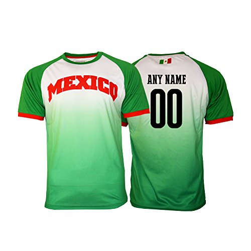 Mexico Training Jersey - Pana Mexico Soccer Jersey Flag Mexican Adult Training Custom Name and Number (M, Custom Name fadded)