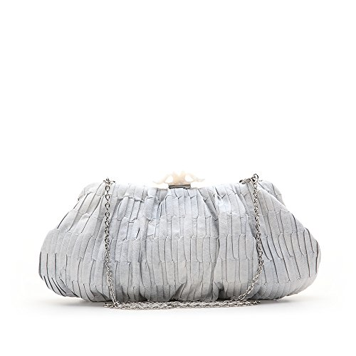 Abbacino Joanassa, Cartera de Mano para Mujer, 6x15x35 cm (W x H x L) Plateado (Silver)