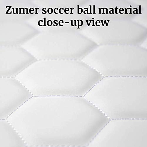 Zumer Sport LSU Tigers Soccer Ball Leather Drawstring Shoulder Backpack Bag - Made from The Same Exact Materials as a Soccer Ball - White