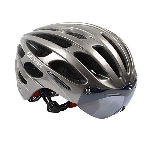 Radar Screen Bicycle Helmet, Mountain Bike Helmet with CPSC Safety Certified Ultra Lightweight Cycling Helmet with Adjustable Thrasher for Adult