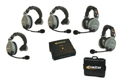 System Intercom Person (Eartec COMSTAR XT Full Duplex Wireless Intercom System with All-in-One Headsets (5 Person))