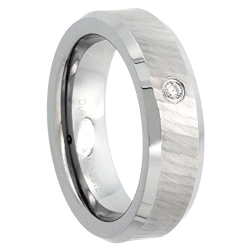 Tungsten Diamond Wedding Dazzling Beveled