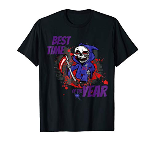 Skull TShirt Disguise City Best Halloween Scary Cool Costume ()