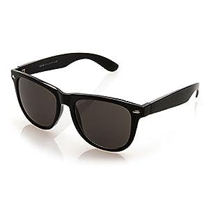 NYS Collection Eyewear Bleecker Street Vintage Sunglasses (Black, Smoke)