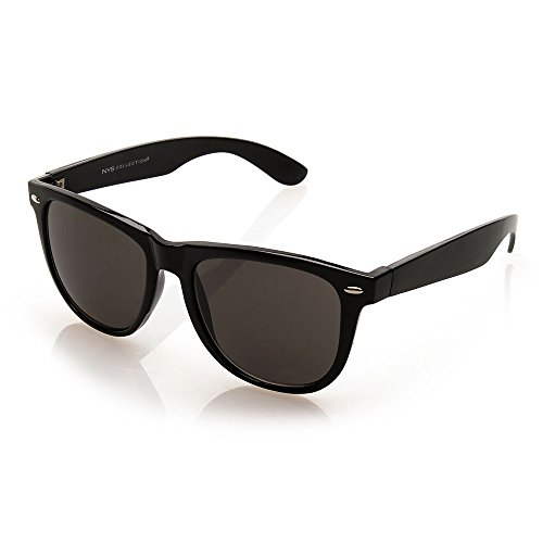 NYS Collection Eyewear Bleecker Street Vintage Sunglasses (Black, - Nys Eyewear
