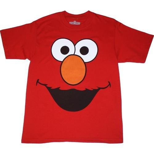 Sesame Street - Mens Elmo Face Costume T-shirt