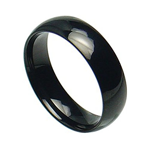 womens black rings - 8