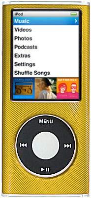 Ipod Case Hard Aluminum Nano - HD Accessory Aluminum Crystal Hard Case for 4th Generation iPod Nano (Gold)