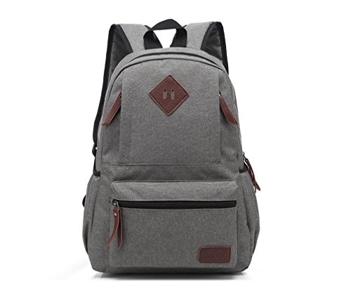 Vintage Cool Canvas Laptop Book Backpack Rucksack (Watermelon Red) - 3