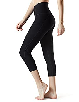 "Tm-fyc34-blk_medium Tesla Yoga 21""capri High-waist Pants W Side Pockets Fyc34 0"