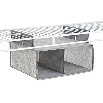 mDesign - Organizador colgante de tela, para almacenamiento en armario, repisa para estante metálico