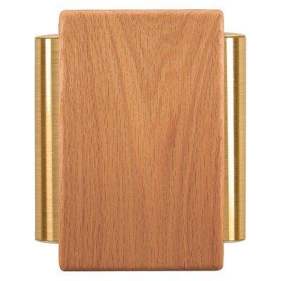 Heath Zenith 79/M Traditional Décor Series Wired Door Chime, Solid Oak with Satin Brass (Satin Brass Supply Tubes)