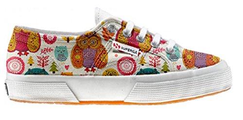 Superga scarpe personalizzate con Autumn Forest (Prodotto Artigianale)