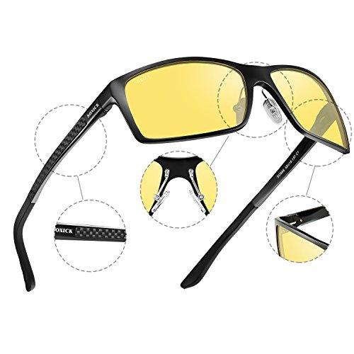 SOXICK Black Driving Glasses Anti Adjustable Glare Men Metal Polarized HD Vision Frame For 1 Night Night Glasses Women rrwYap