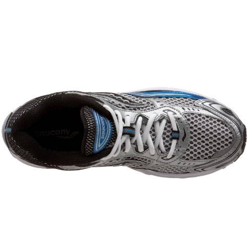 Saucony Mens Grid Fusion 3 Running Shoe Silver/Royal/Black ZzROX8