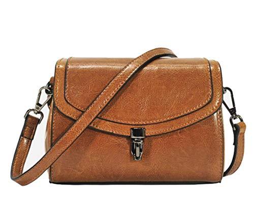 Mini In A Pelle Donna Messenger Cerata Piccola Tracolla Da Inverno Borsa Autunno Brown Bag E Olio wq7UgS4R