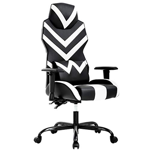 Ergonomic Office Chair PC Gaming Chair Cheap Desk Chair PU Leather Executive and Ergonomic Computer Chair Lumbar Support for Women, Men