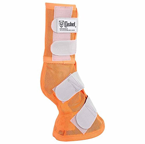 Cashel Designer Horse Fly Leg Guards, Set of Two - Benefit Animal Rescue, Color: Orange - Size: (Leg Guard Set)