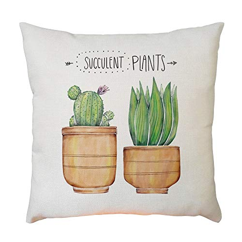 Price comparison product image Buybuybuy Plant Pattern Soft Soild Decorative Square Throw Pillow Covers Set Cushion Cases PillowCases for Sofa Bedroom (D)