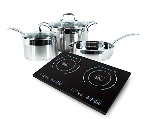 True Induction 2 burner portable cooktop with 5 pc induction cookware by True induction Cooktop -Wolfe induction cookware (Image #8)
