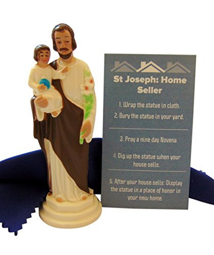 Westman Works St Joseph Statue for Selling Homes Kit with Instructions and Burial Cloth Set ()
