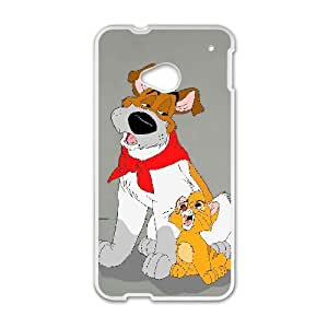HTC One M7 Cell Phone Case White Disney Oliver & Company Character Dodger 005 YWU9276162KSL