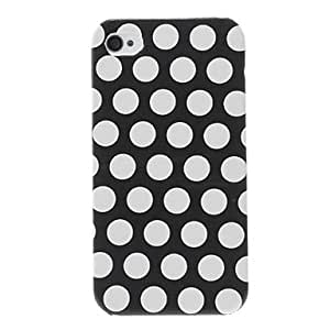 Round Dots Pattern Hard Case for iPhone 4/4S (Assorted Colors) --- COLOR:Red