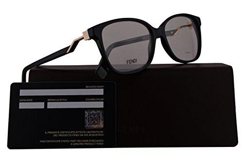 Fendi FF0232 Eyeglasses 53-15-140 Black w/Demo Clear Lens 807 FF - Eyeglasses Wayfarer Original