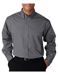 UltraClub Men's Comfort Wrinkle Free Button Down Collar Shirt
