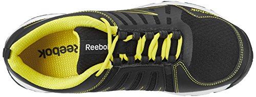 Reebok MenS Real Active LP Black, Yellow and White Mesh Running Shoes - 6 UK