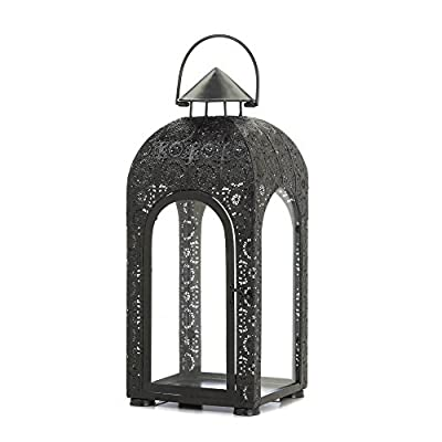 Candle Holder Iron Lantern Tabletop Ornament Hanging Decor Guard Display Metal Large