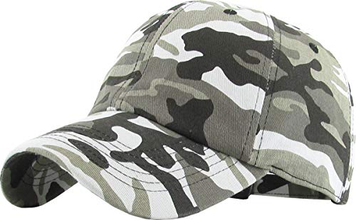 H-218-8406 Low Profile Polo Style Baseball Cap: City Camo Black ()