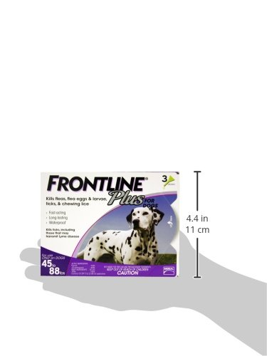 Merial Frontline Plus Flea and Tick Control for 45 to 88-Pound Dogs and Puppies, 3-Doses 41I75FkI3TL