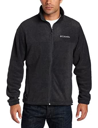 Columbia Men's Steens Mountain Full Zip 2.0 Fleece Jacket, Charcoal Heather, Small