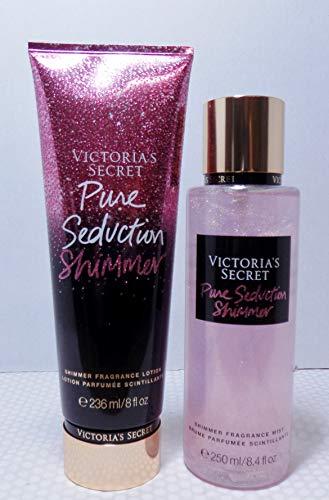 Victoria's Secret Pure Seduction Shimmer Bundle Fragrance Mist and Fragrance Lotion