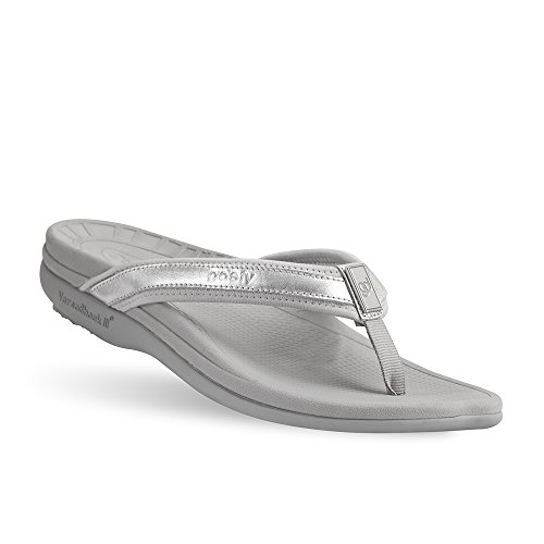 Gravity Defyer Mary Women's Sandals Silver 9 M Most Comfortable Sandals with Arch Support Plantar Fasciitis Shoes price tips cheap