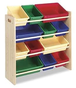 Whitmor Kids Storage Collection 6436-1523-DS 12 Bin Organizer Primary